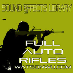 Sound Ideas Full Auto Rifles Sound Effects Library (24-Bit/48 kHz Download)