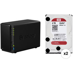 Synology 8TB (2 x 4TB) DiskStation DS216 2-Bay NAS Server Kit with WD Drives