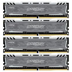 Crucial 64GB Ballistix Sport DDR4 2400 MHz UDIMM Memory Module Kit (4 x 16GB)