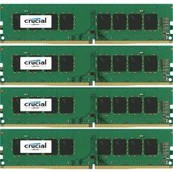 Crucial 64GB DDR4 2400 MHz UDIMM Memory Kit (4 x 16GB)