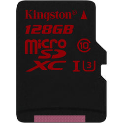 Kingston 128GB UHS-I U3 microSDXC Memory Card