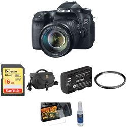 Canon EOS 70D DSLR Camera with 18-135mm f/3.5-5.6 IS STM Lens Basic Kit