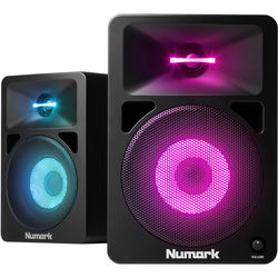 Numark N-Wave 580L Powered Desktop DJ Monitors System with LED Illumination