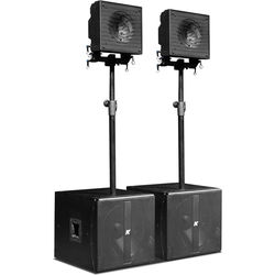 "K-Array KRX202 Small-Format, Multi-Use Powered System w/ 12"" Coaxial Speakers"
