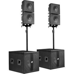 "K-Array KRX402 Powered System with Detachable Mid-High 12"" Coaxial Speakers"