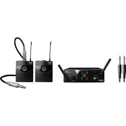 AKG WMS40 Mini Dual Instrumental Wireless System Set (Band: C & D)