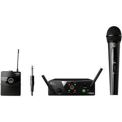 AKG WMS40 Mini Wireless Handheld & Bodypack Dual System (Channels A & B)