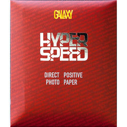 "Galaxy Hyper Speed Direct Positive Black & White Paper (Embossed Glossy, 4 x 5"", 25 Sheets)"