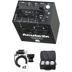 Profoto Acute 2R 1200W/s 2 Head Pro Value Pack with Case (90-260V)