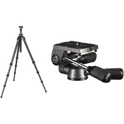 Gitzo GT2543L Mountaineer Series 2 Carbon Fiber Tripod (Long) with G2270M 3-Way Pan/Tilt Head Kit