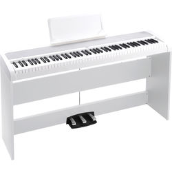 Korg B1SP - Digital Piano with Stand and Pedalboard (White)