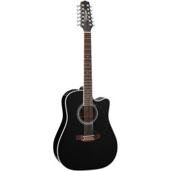 Takamine EF381SC Legacy Series 12-String Acoustic/Electric Guitar with Case (Gloss Black)