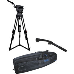 Cartoni Focus 22 Fluid Head with H601 Tripod Legs, Ground Spreader and 2nd Pan Bar (100mm)