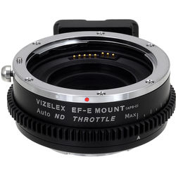 FotodioX Vizelex Pro ND Throttle Lens Mount Adapter for Canon EF- and EF-S-Mount Lens to Sony E-Mount Camera