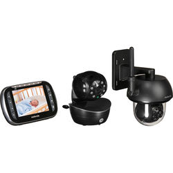 Motorola Indoor and Outdoor Wireless Night Vision Cameras with Remote Monitor