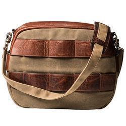 HoldFast Gear Sightseer Lens Bag (Olive with Leather Trim)