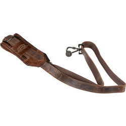 Heavy Leather NYC Slingshot Camera Strap (Vintage Brown)