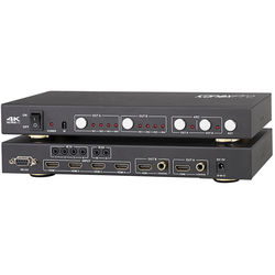 KanexPro HDMI 4K 4x2 Matrix Switcher with Audio De-Embedder & ARC