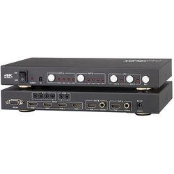 KanexPro HDMI 4K 4x2 Matrix Switcher with Audio De-Embedder & ARC