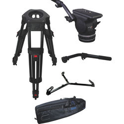 Cartoni Focus 18 Fluid Head with H602 Tripod Legs, Ground Spreader and 2nd Pan Bar (100mm)