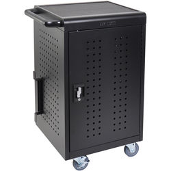 Luxor LLTM30-B 30 Tablet/Chromebook Charging Rolling Cart