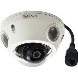 ACTi 2MP Outdoor Mini Dome Camera with 2.55mm Fixed Lens and RJ-45 Connector