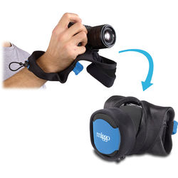 miggo Grip and Wrap for Mirrorless and Compact System Cameras (Blue and Black)