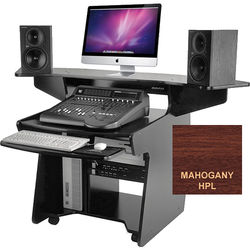 Omnirax CODA Mixing / Digital Editing Workstation Desk (Mahogany Formica)