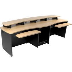 Omnirax GEMINI Dual Position Multi-Purpose Digital Editing / Audio / Video Workstation (Maple Formica)