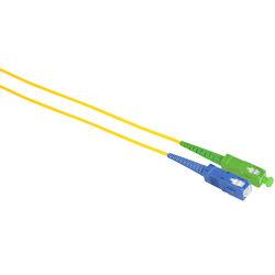 Camplex Simplex APC SC to UPC SC Singlemode 9u/125u Fiber Optic Patch Cable (3.3', Yellow)