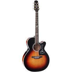Takamine EF450C TT BSB Thermal Top Series Acoustic/Electric Guitar w/Case (Brown Sunburst)
