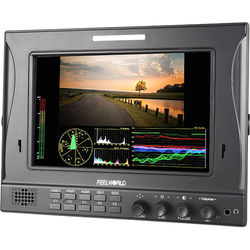 """FeelWorld 7"""" IPS 1280 x 800 Dual 3G-SDI Camera-Top Monitor with Waveform, Vectorscope, and Color Histogram Functions"""