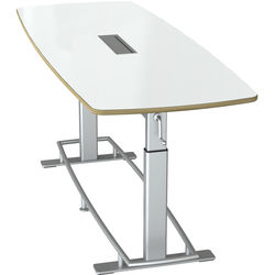 Focal Upright Furniture Confluence 8 Standing-Height Conference Table (Large, Dry Erase Top)