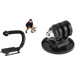 Vello ActionPan Stabilizing Action Grip/Handle with GoPro Mount (Black)