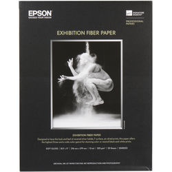 """Epson Exhibition Fiber Paper for Inkjet (8.5 x 11"""", Letter , 25 Sheets)"""