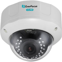 EverFocus eZ.HD Series 1080p Full HD True Day / Night Outdoor IR Vandal Dome Camera with 2.8 to 12mm Varifocal Lens (White)