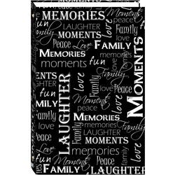 """Pioneer Photo Albums STC-46D 3-Ring Photo Album (4 x 6"""", Black and White Words)"""