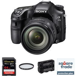 Sony Alpha a77 II DSLR Camera with 16-50mm f/2.8 Lens Deluxe Kit