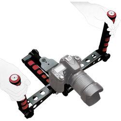 Ivation Pro Steady DSLR Rig System with Shoulder Mount (Red)