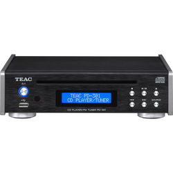 Teac PD-301 CD Player with FM Tuner (Black)