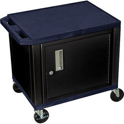 "Luxor 24.5"" Tuffy Cart with Cabinet and Electrical Assembly (Topaz Blue)"