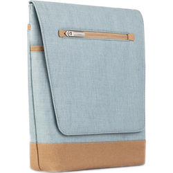 "Moshi Aerio Lite Vertical Messenger Bag for Select Apple iPads or Apple 12"" MacBook (Sky Blue)"