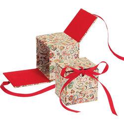 """Lineco Japanese Sho-Sho Box Kit (Art-Nouveau Flowers, 3.25 x 3.5 x 3.25"""")"""