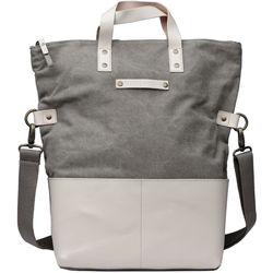 Kelly Moore Bag Collins Canvas & Leather Shoulder Bag with Removable Insert (Sand/Bone Trim)