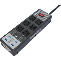 Numark Production Hub with 6 Surge-Protected AC Sockets and 4 USB 3.0 Ports