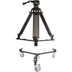 E-Image Two-Stage Carbon Fiber Tripod with GH10L Head & Tripod Dolly Kit (100mm)