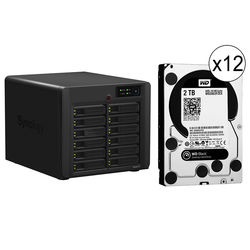 Synology 24TB (12x 2TB) DiskStation DS2413+ 12-Bay NAS Server