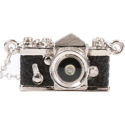 Japan Hobby Tool Miniature SLR Camera Necklace (Black)