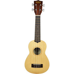 KALA Soprano Ukulele Satin Spruce Top with Rosette