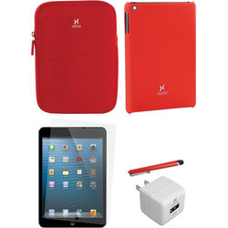 Xuma Snap-on Case for iPad mini with Accessories Kit (Red)